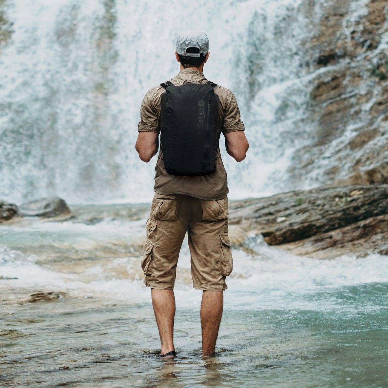 Catalyst Waterproof Backpack Portable 20L Bag keeps your devices safe from the elements