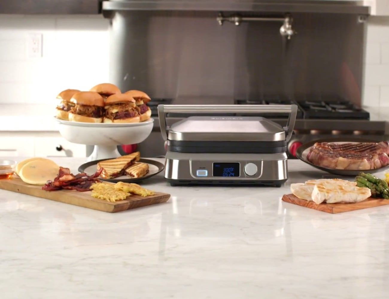 Cuisinart Griddler Five Electric Indoor Griddle can be both a grill and a griddle