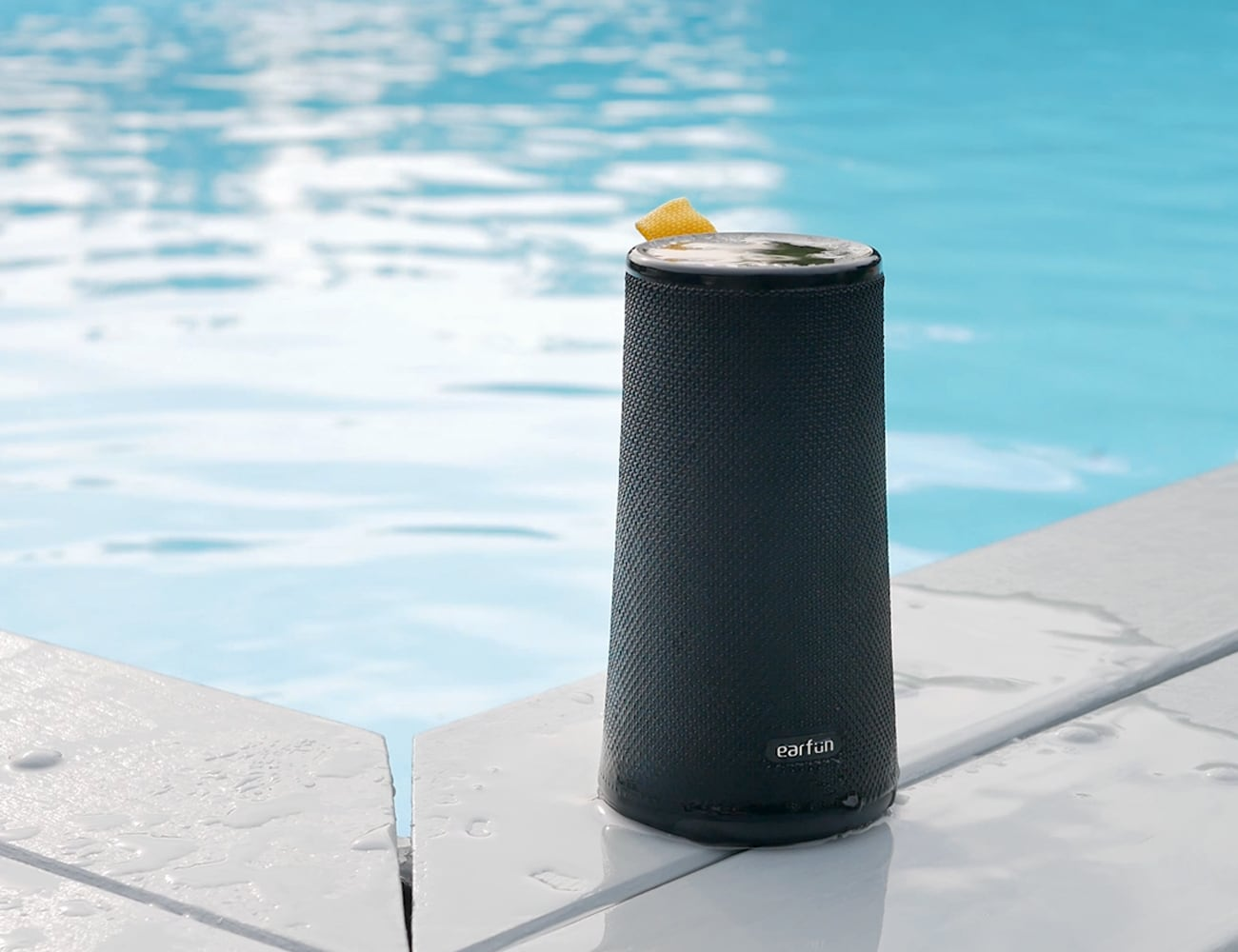 EarFun UBOOM Portable 360° Wireless Speaker works indoors and outdoors