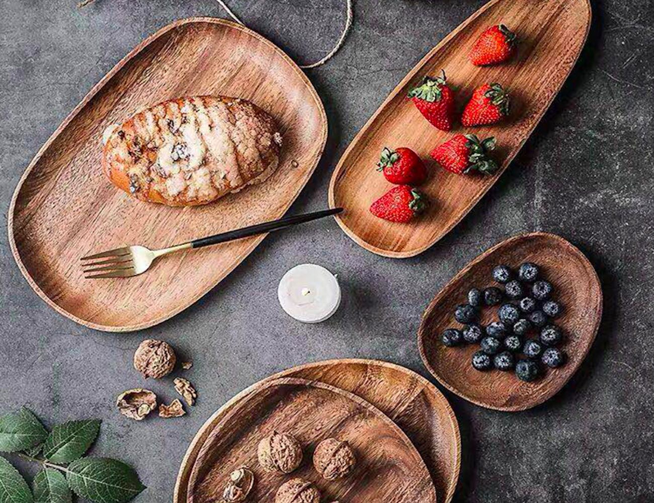 Eclectic Wooden Dinner Plates add rustic splendor to your table