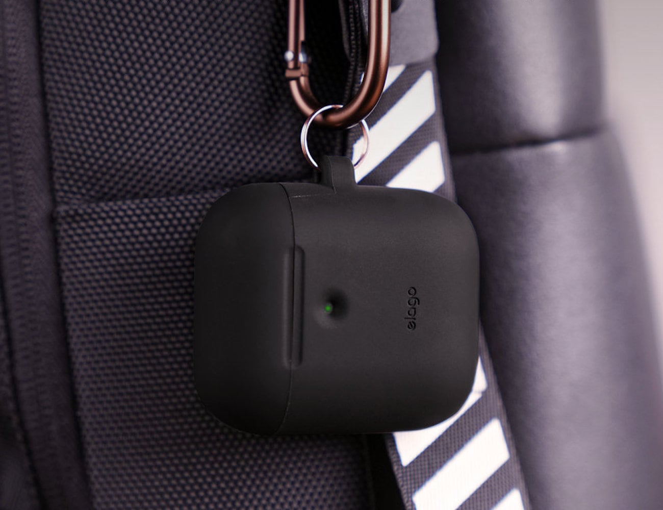 Elago A2 Hang Case Wireless AirPods Charging Case protects your earbuds from dust and moisture