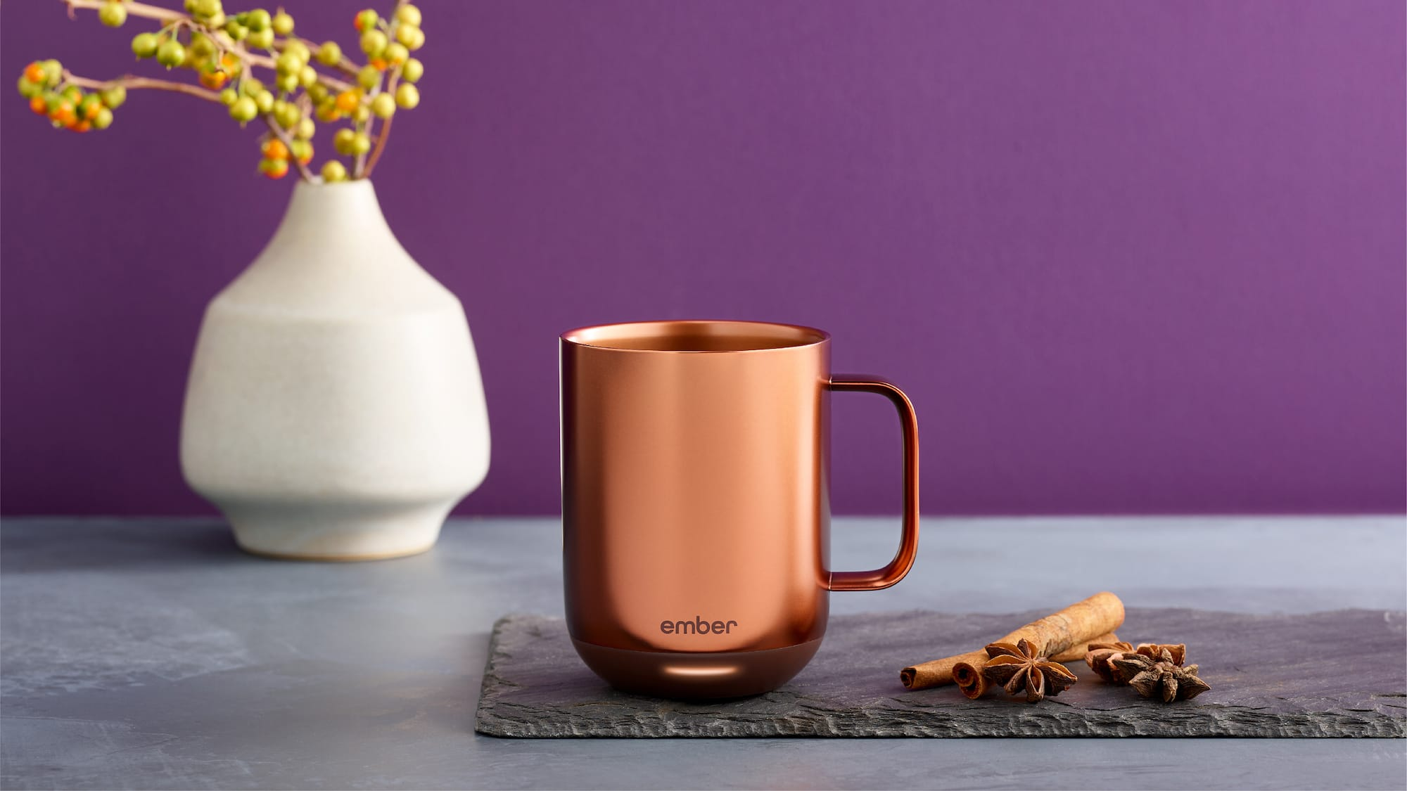 Ember Mug² Metallic Collection connected copper mug keeps your coffee hot 90 minutes