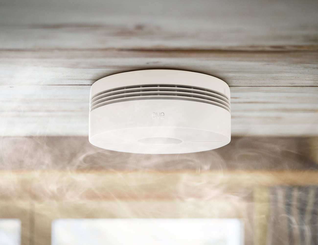 Eve Smoke Connected Smoke Detector detects fires of all sizes