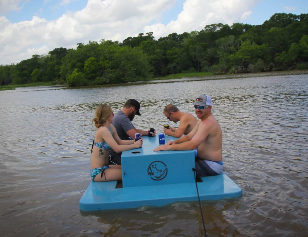 Floating+Picnic+Table+Buoyant+Bench+Seat+lets+you+have+a+meal+on+the+water