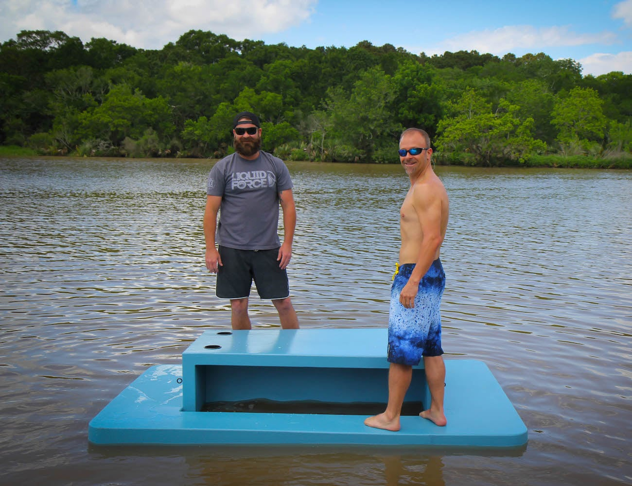 Floating Picnic Table Buoyant Bench Seat lets you have a meal on the water
