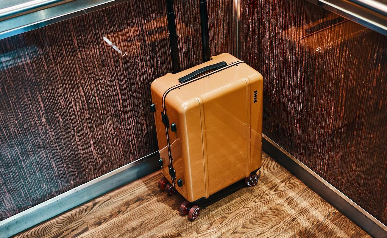 Floyd Check-In Skateboard-Inspired Travel Case has classic 70s wheels