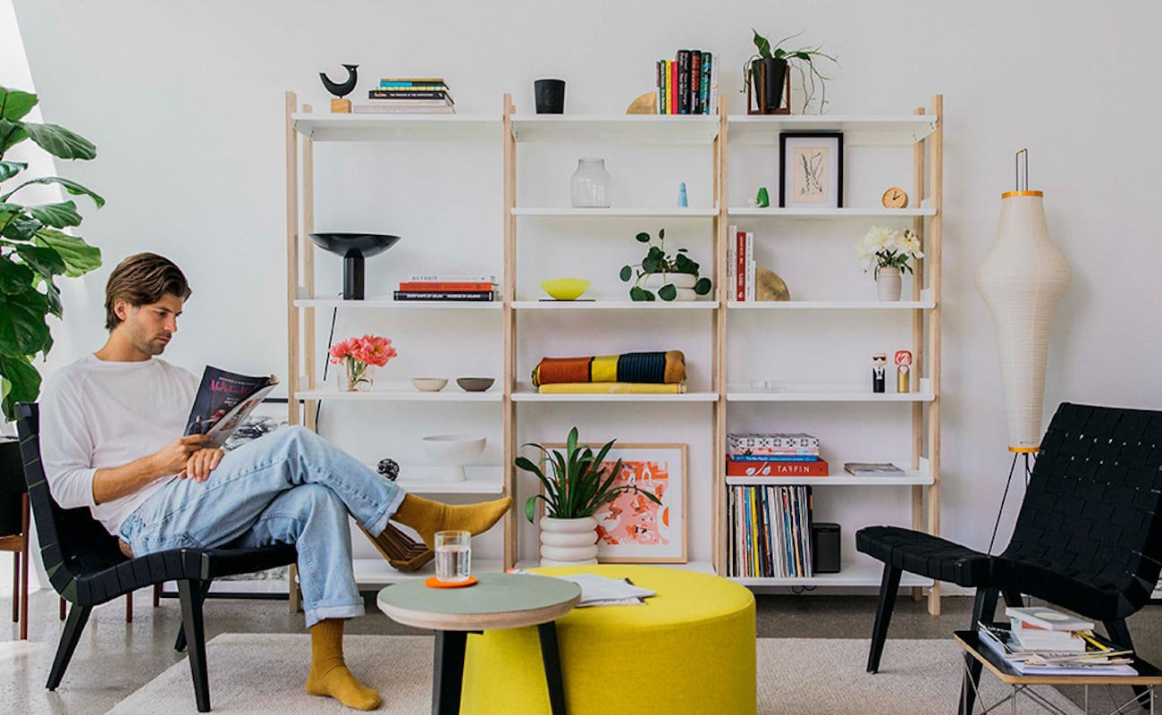 Floyd Shelving System Modular Shelf Unit becomes whatever size you need