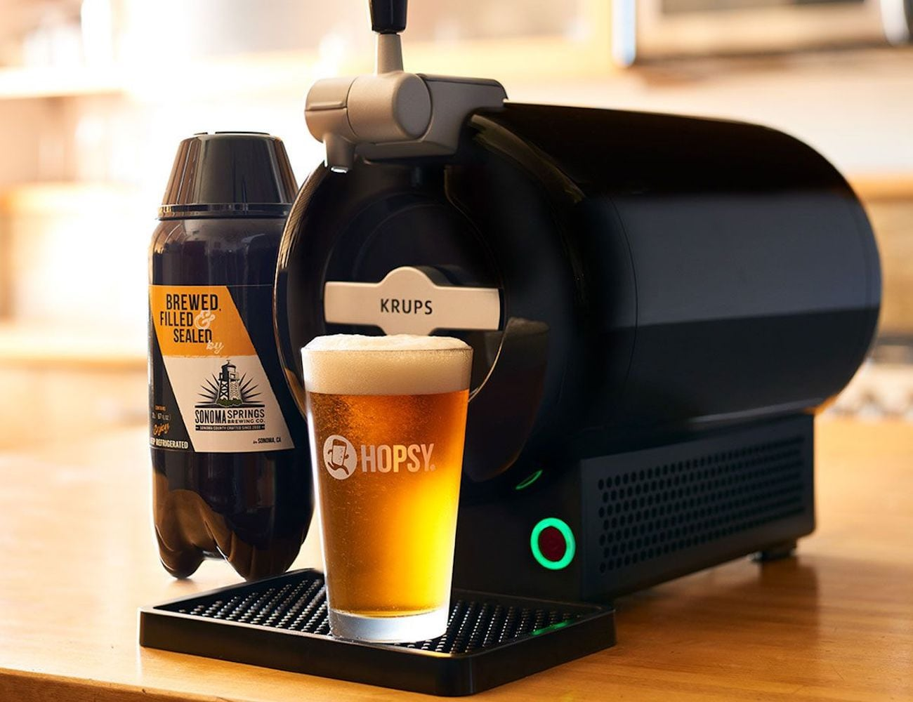 Hopsy SUB Home Tap Countertop Draft System brings the bar experience to your dining room