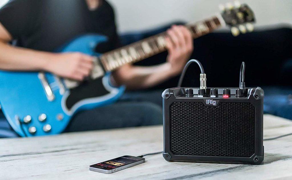 IK+Multimedia+iRig+Micro+Amp+Battery-Powered+Guitar+Amplifier+provides+three+custom+analog+channels