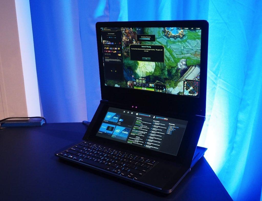 Intel Honeycomb Glacier Hinged Dual-Screen Laptop