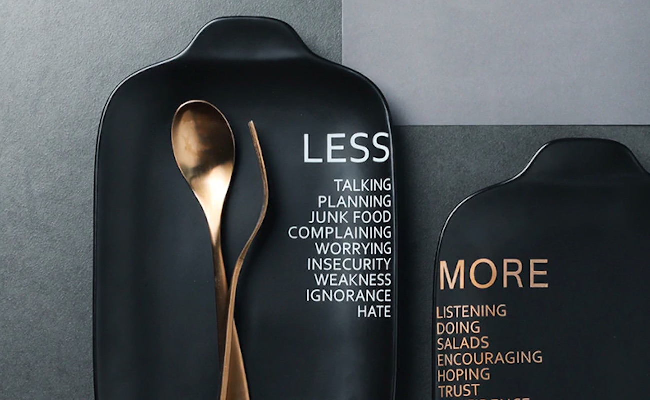 Less / More Uplifting Ceramic Plates offer some fresh perspective