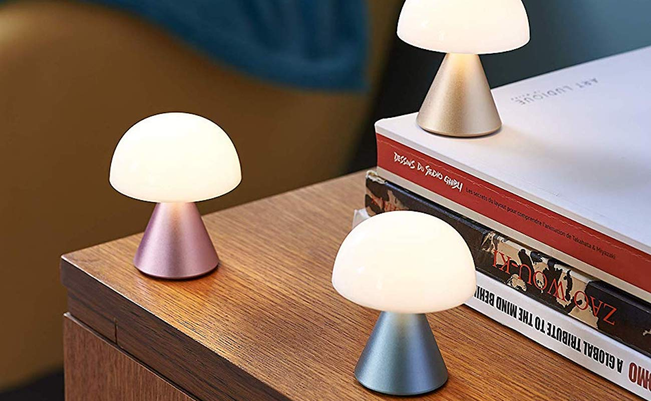 Lexon Mina Mini LED Lamp is a super adorable mushroom-shaped light