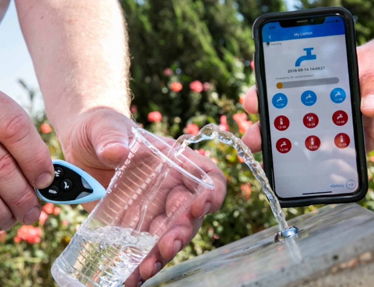 Lishtot TestDrop Pro Instant Water Quality Tester ensures you're drinking safe water