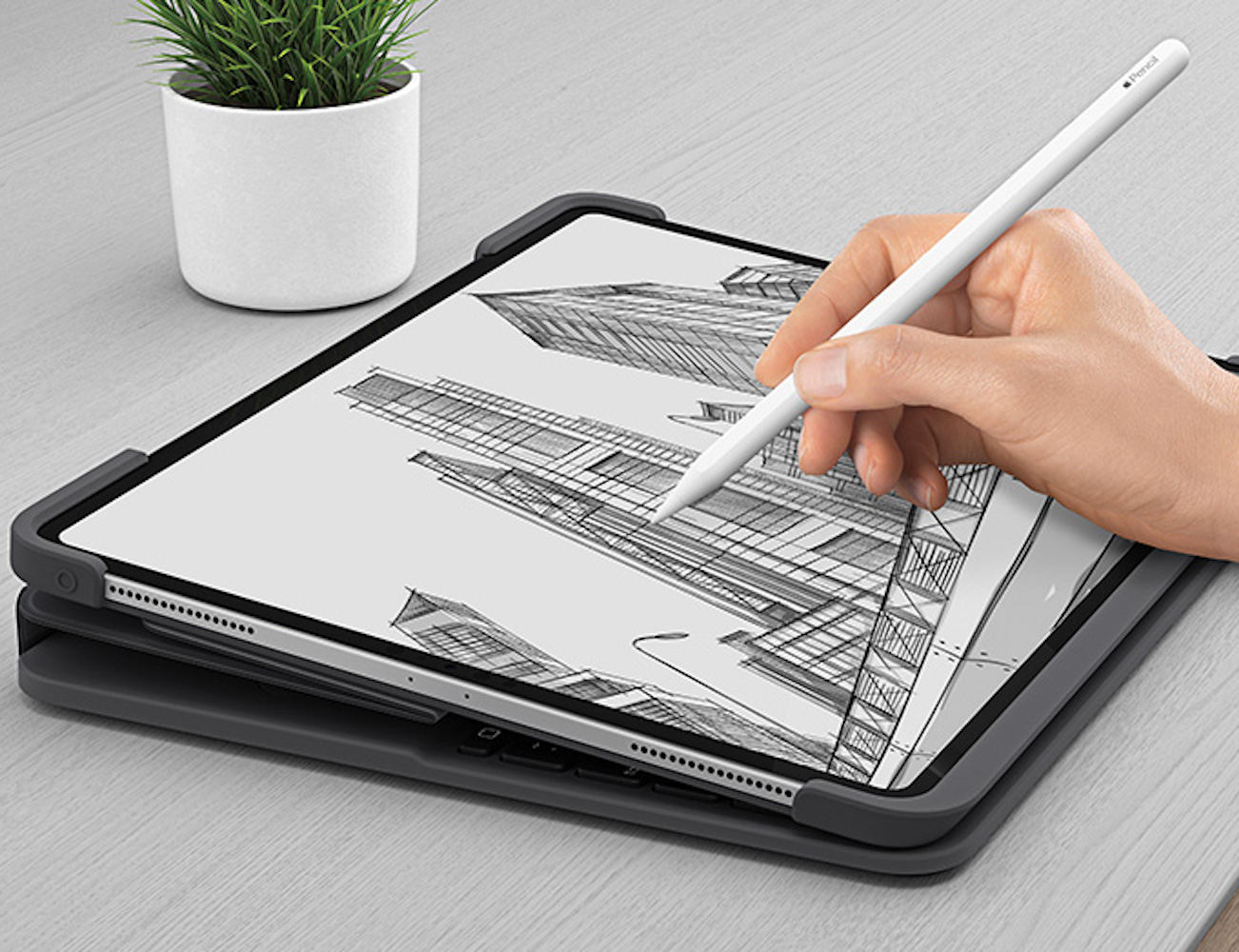 Logitech Slim Folio Pro iPad Pro Keyboard Case