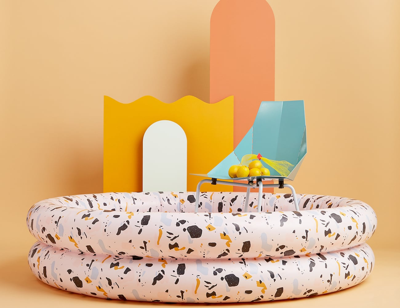 Mylle Modern Inflatable Pools are a convenient and artistic way to beat the heat
