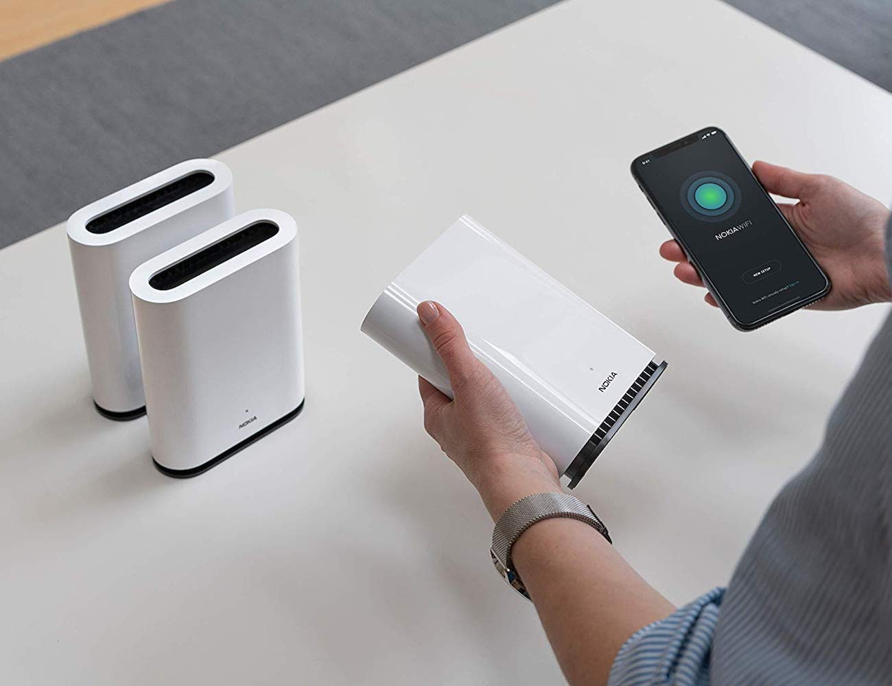 Nokia WiFi Beacon 1 Home Wi-Fi Coverage Extender replaces your current router
