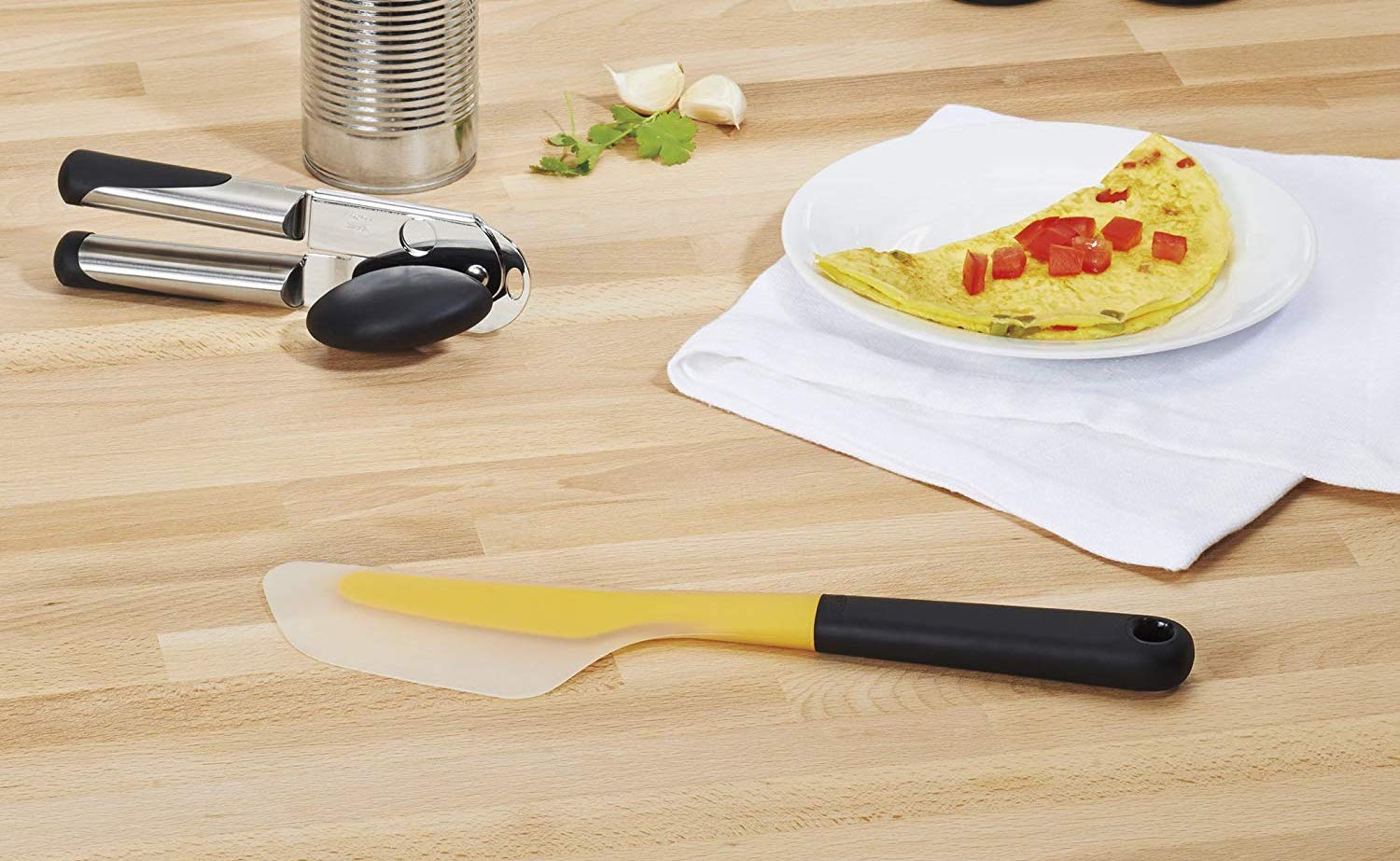 Oxo Good Grips Flip and Fold Omelet Turner Silicone Spatula flips your food with ease