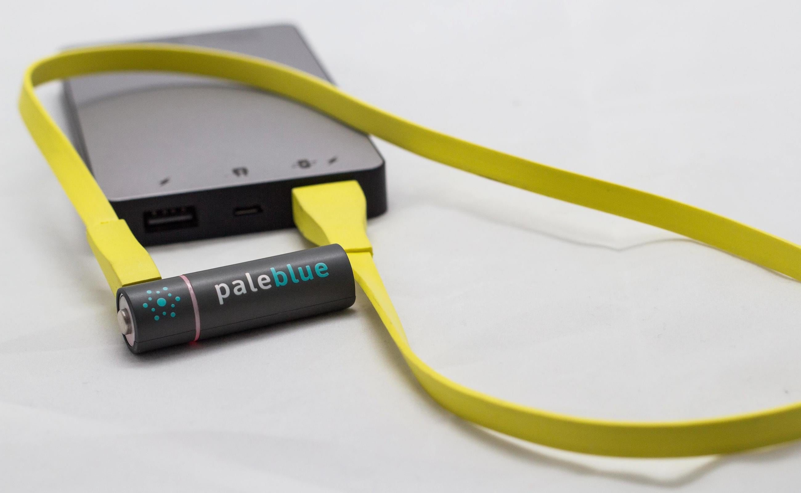 Pale Blue USB-Rechargeable Batteries can be used again and again