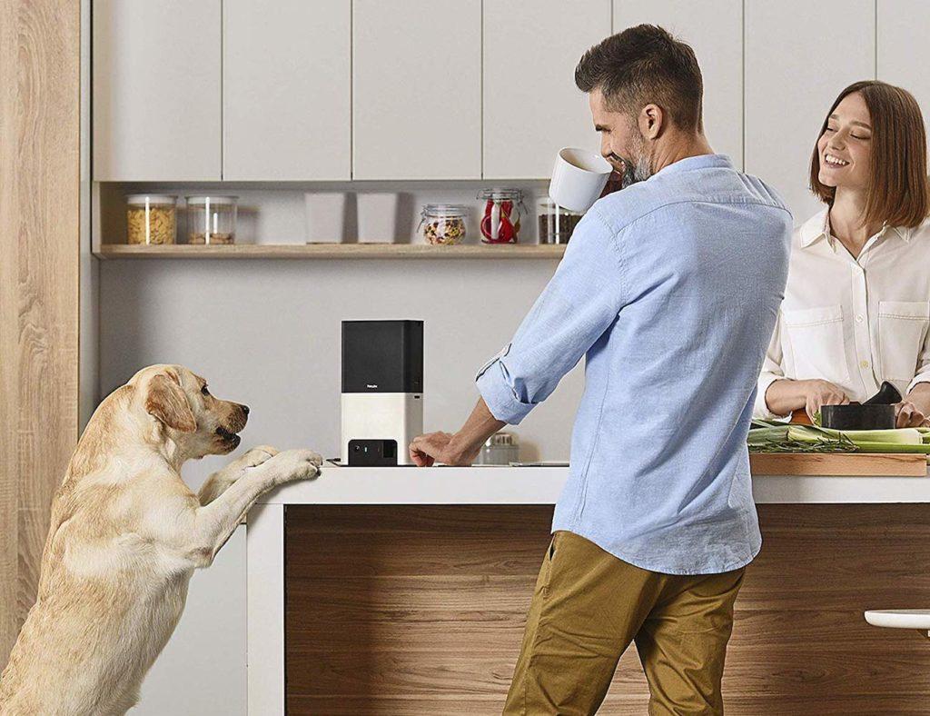 Petcube+Bites+2+Smart+Treat-Dispensing+Camera+has+built-in+Alexa+control