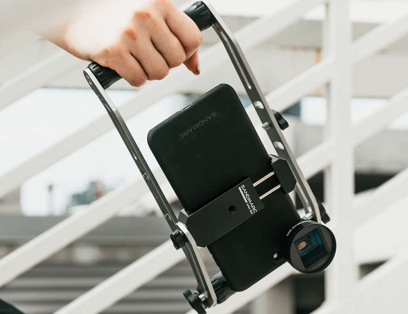 SANDMARC Film Rig Camera Mounting System stabilizes your footage