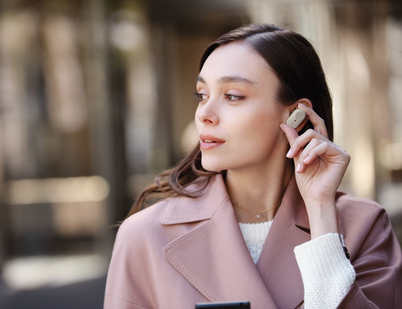 Sony WF-1000XM3 Wireless Noise-Canceling Headphones block all the noise you don't want to hear