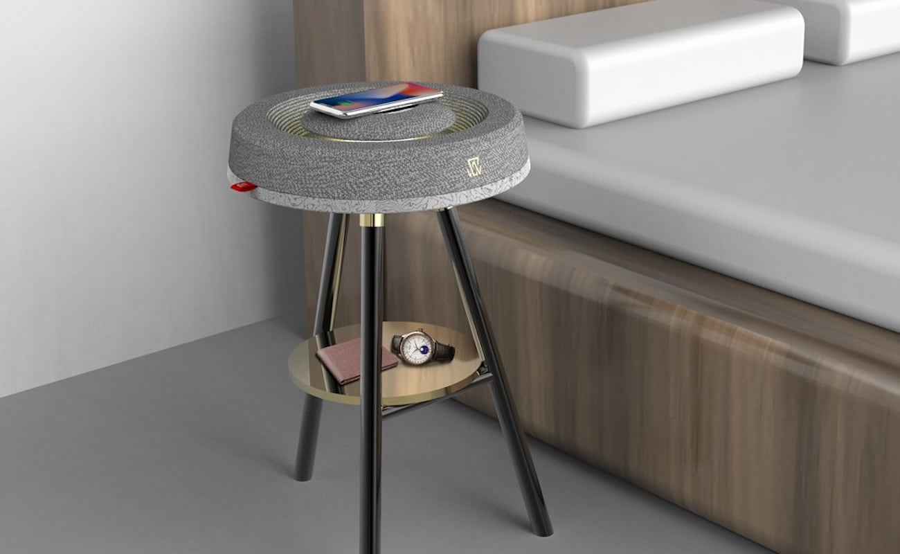 This Multipurpose Bedside Table Has A Built In Speaker