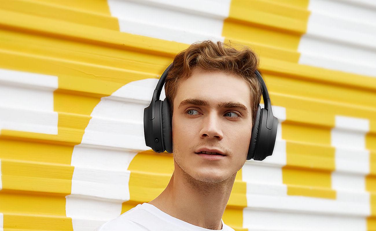 TaoTronics SoundSurge 60 Active Noise-Cancelling Headphones drown out the noise