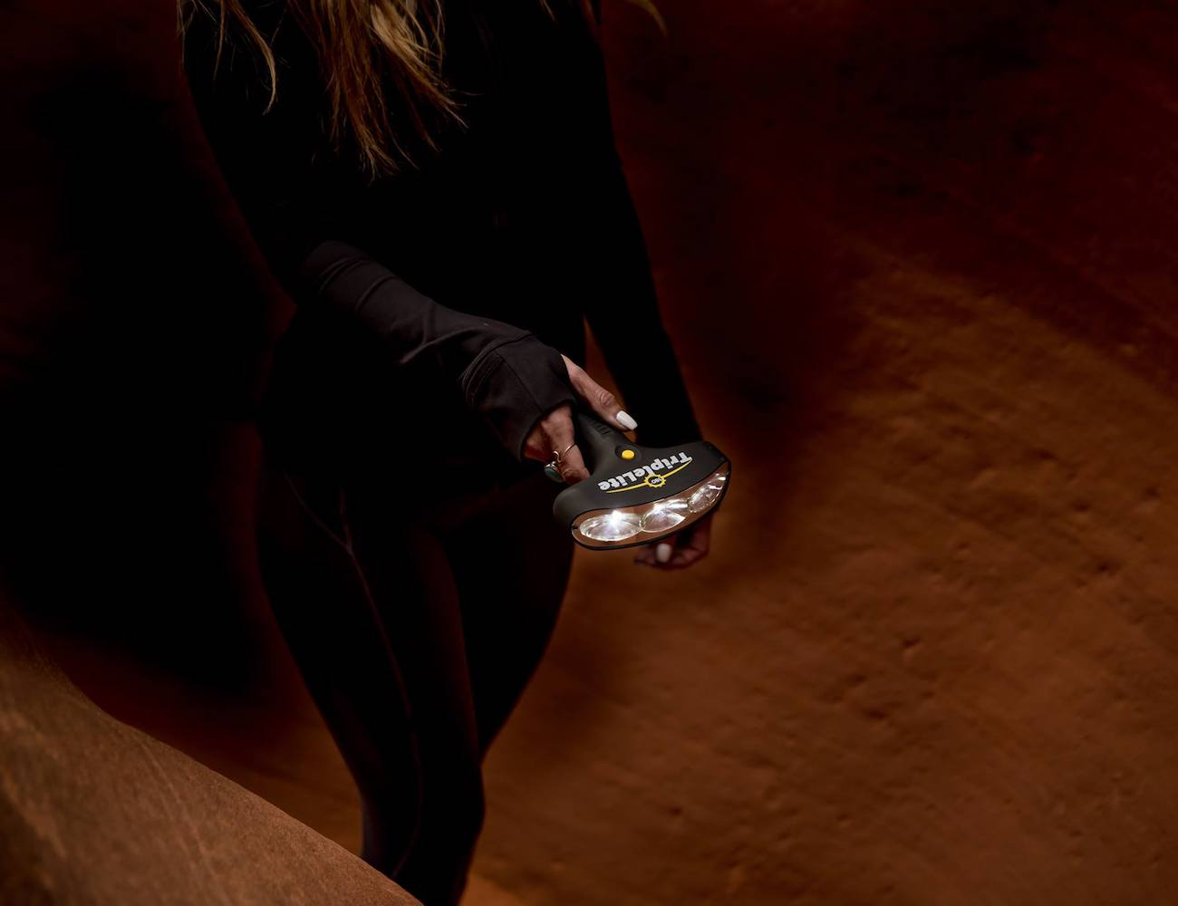 TripleLite Master T 180°-Beam Flashlight provides more than 8 hours of brightness