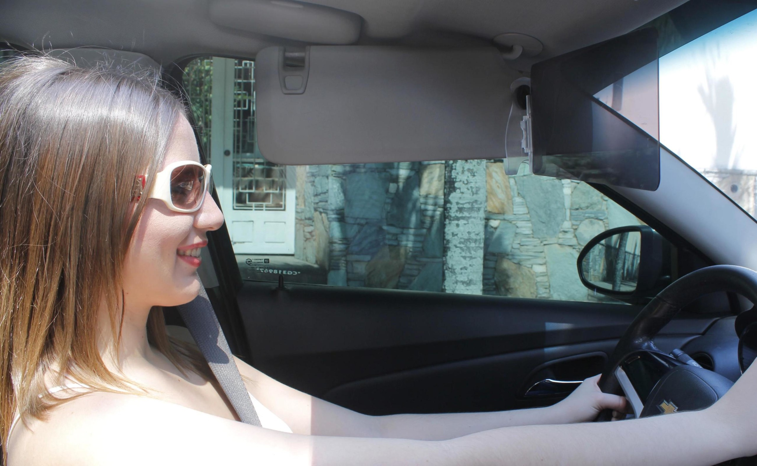 VisorTwin Glare-Blocking Car Visor blocks the sun without blocking your view
