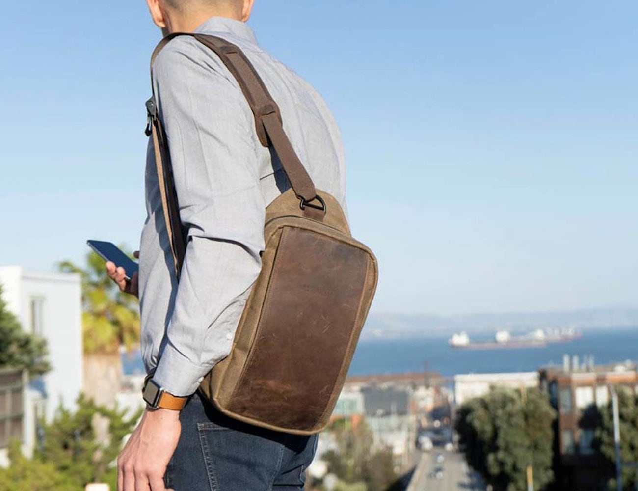WaterField Designs Sutter Tech Sling Minimalist Everyday Bag perfectly fits your iPad Pro