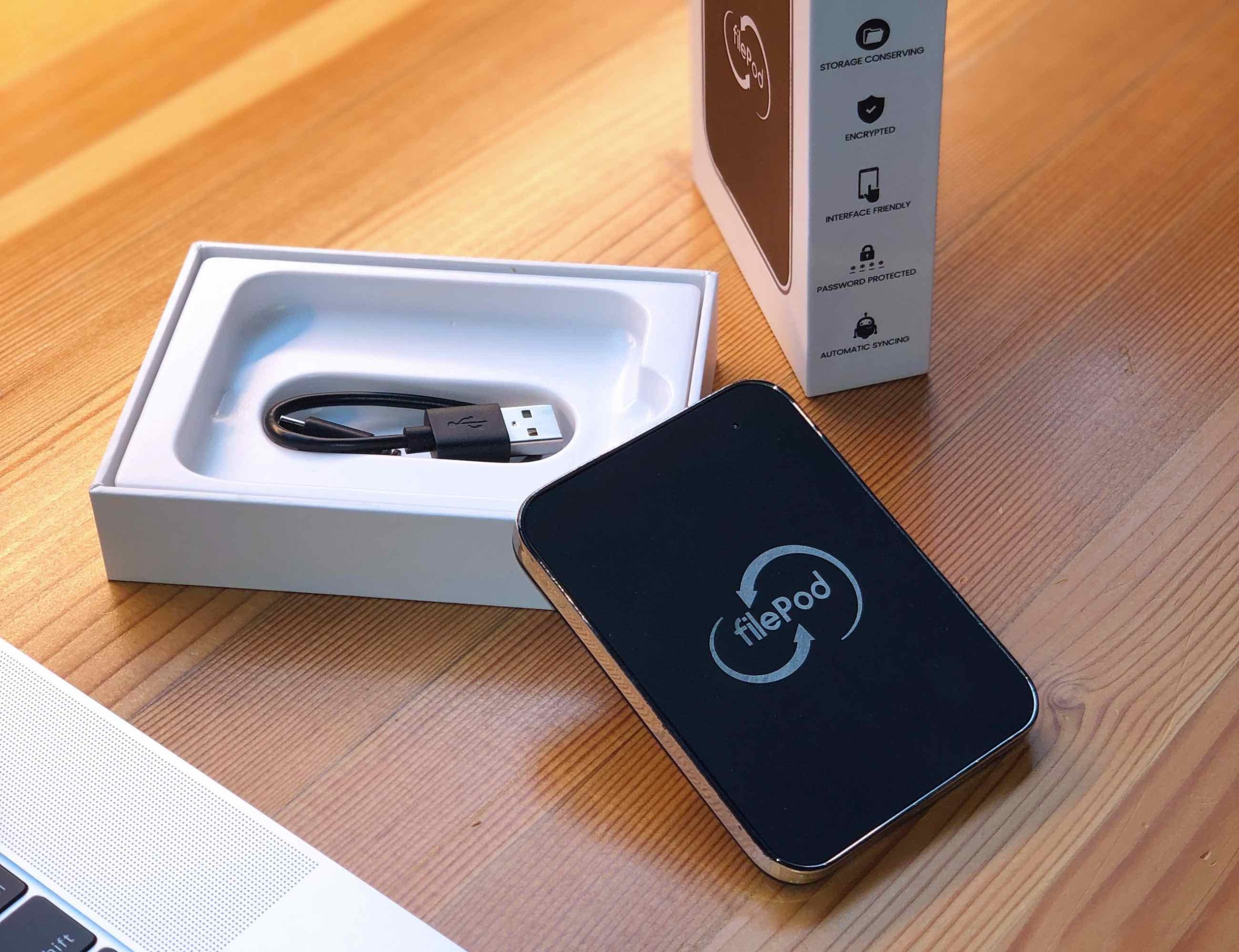 filePod Compact Automatic File Storage Device gives you full access even offline