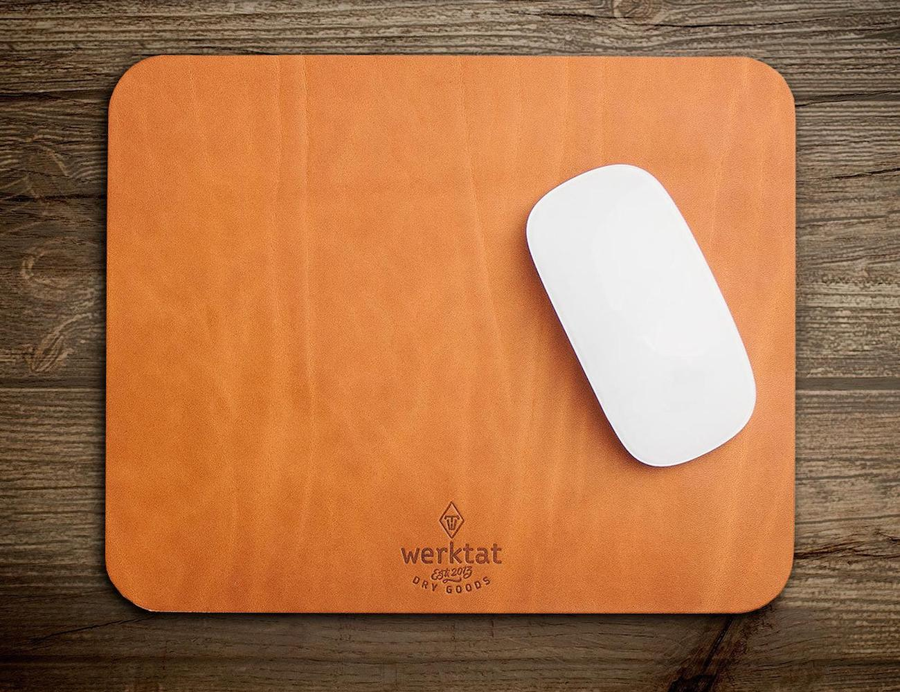werktat Vegetable Tanned Leather Mouse Pad brings style to your workspace