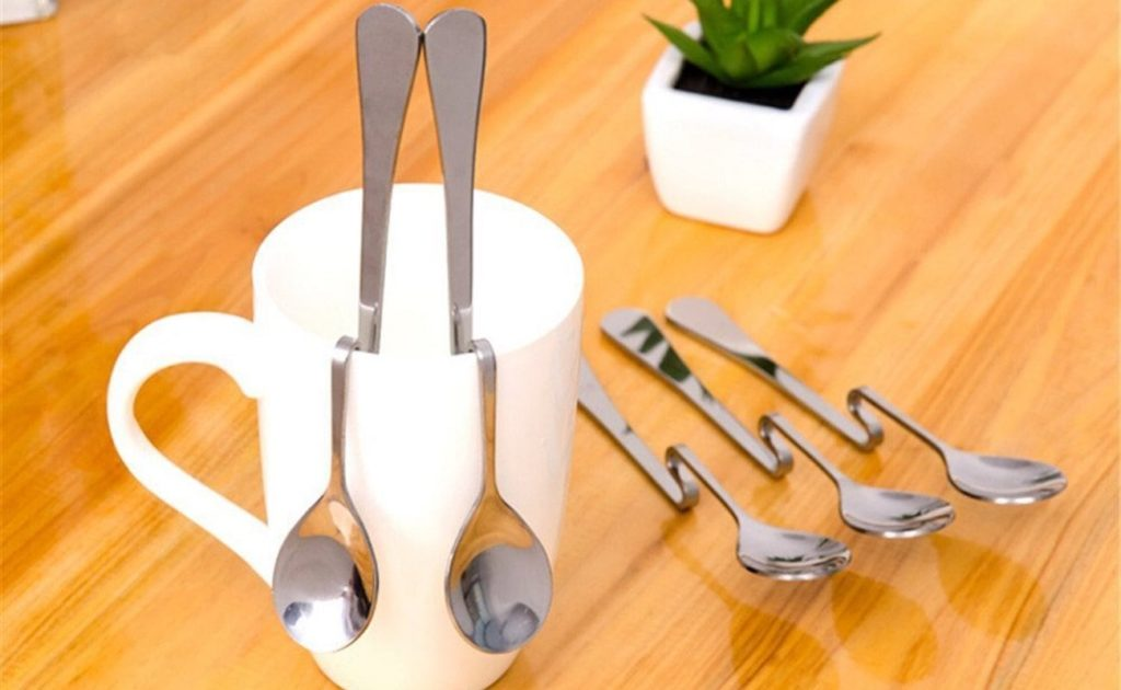 5-Piece+Coffee+Spoons+Bent+Hanging+Scoops+keep+your+table+clean