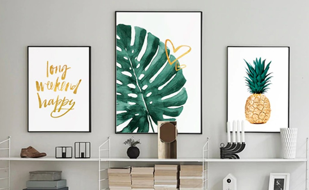 ART+ZONE+Golden+Pineapple+Modern+Art+Canvasses+are+perfect+for+any+bare+wall