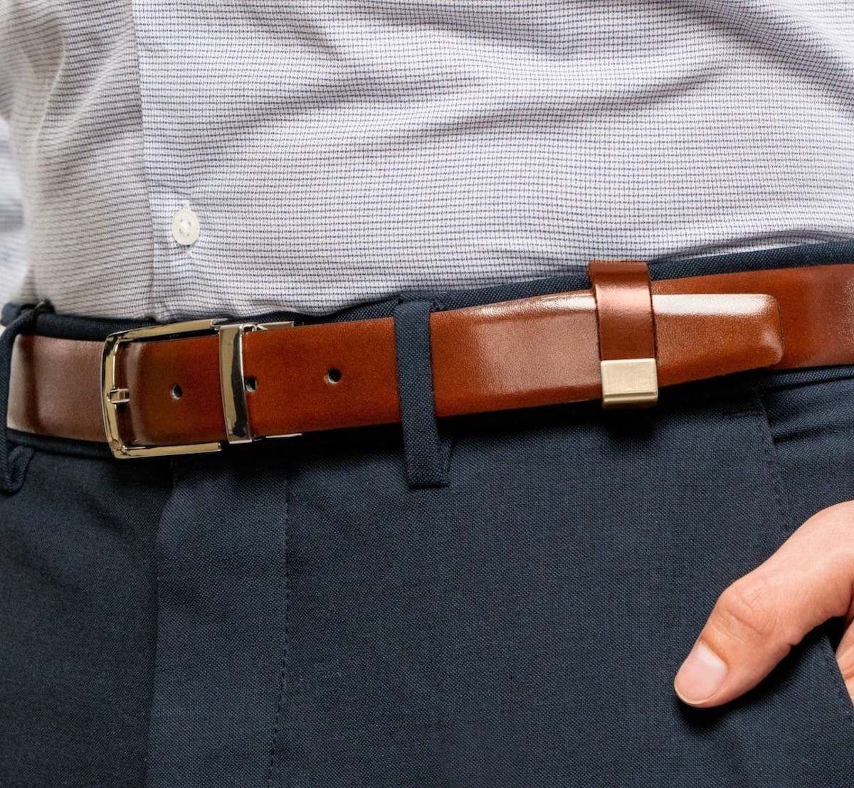 Beltpin Detachable Belt Loop keeps your outfit looking put together