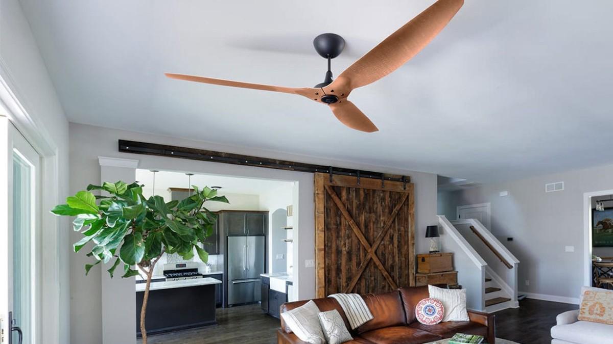 Big Ass Fans Haiku Smart Ceiling Fan incorporates an intelligent temperature sensor