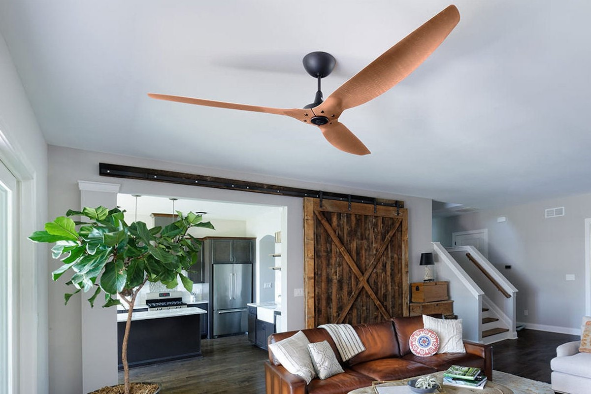 Big Ass Fans Haiku Smart Ceiling Fan incorporates an intelligent temperature sensor