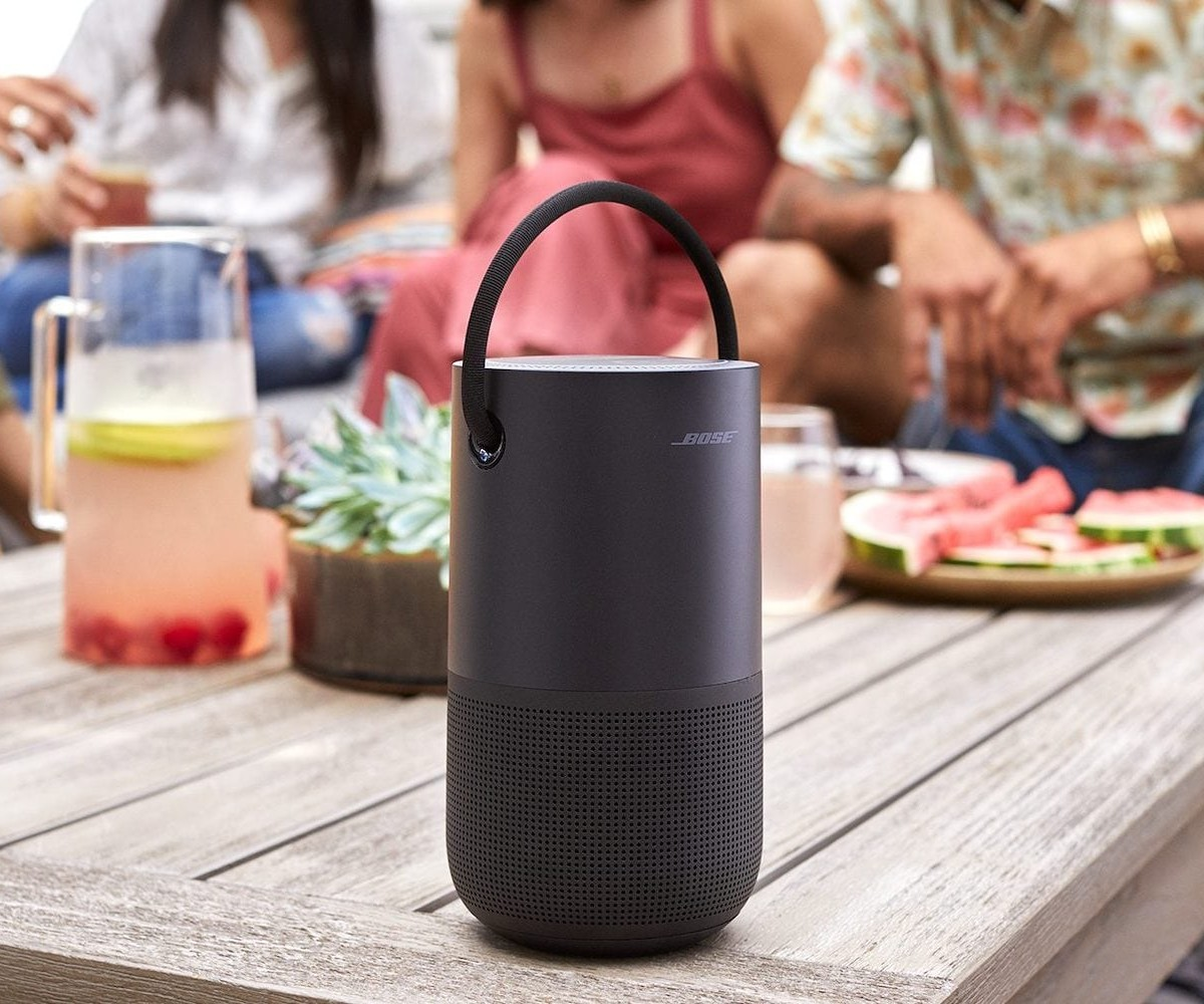 Bose Portable Smart Speaker provides 360º sound in a compact, lightweight 2.3-pound body