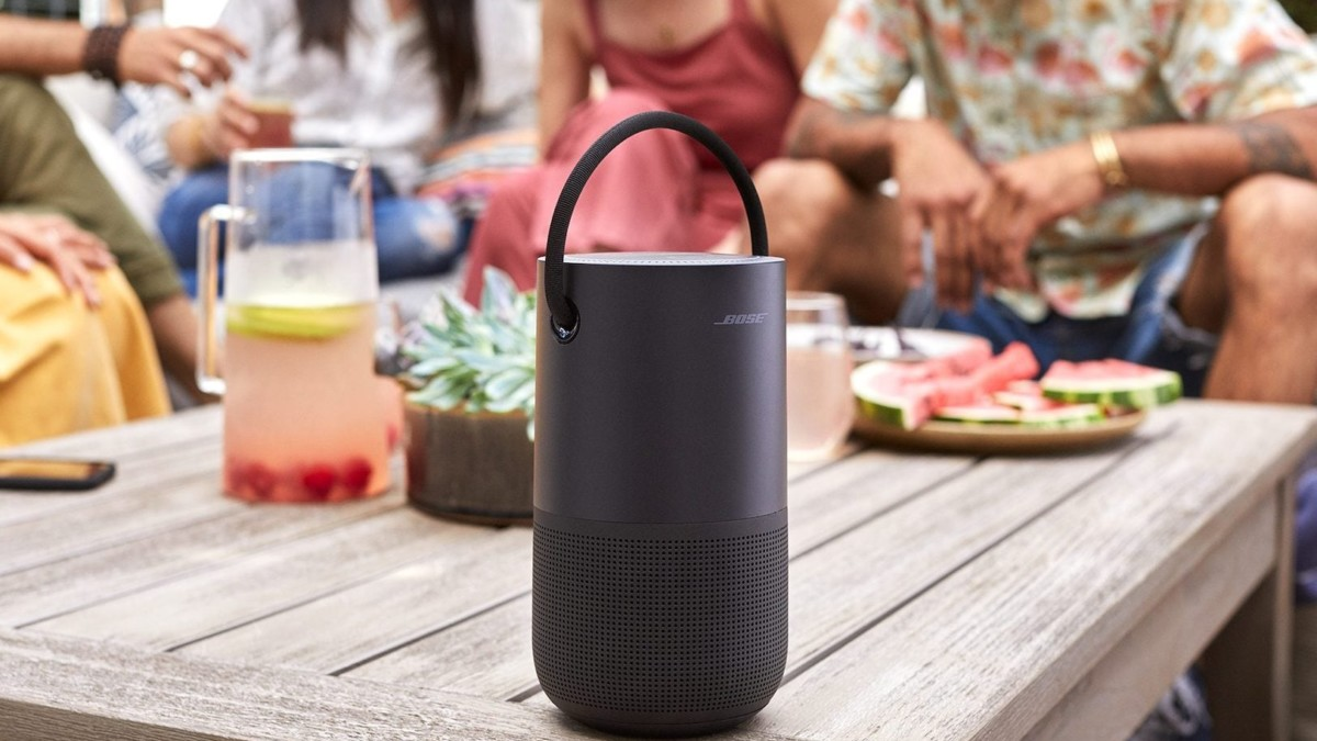 Bose Portable Home Compact Bluetooth Speaker provides 360º sound in a 2.3-pound body