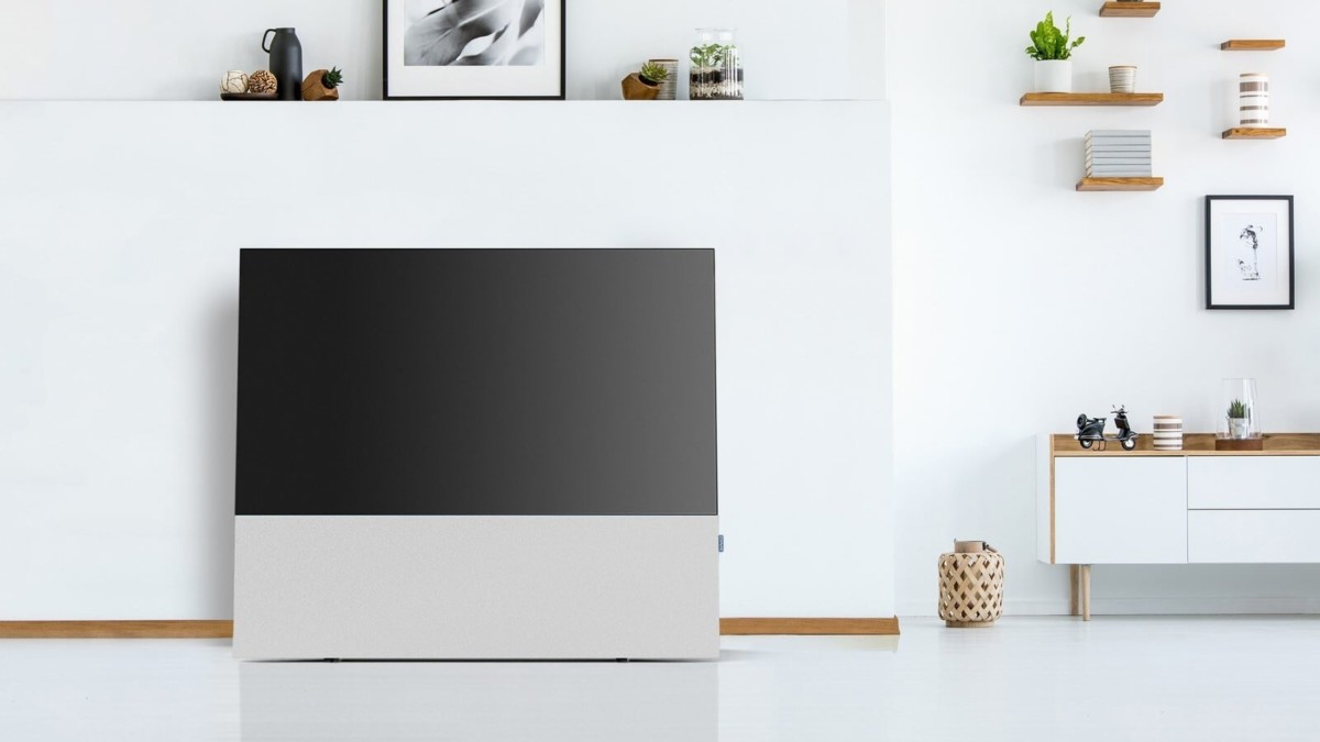Canvas Hi-Fidelity Audiostand gives you more OLED TV sound options