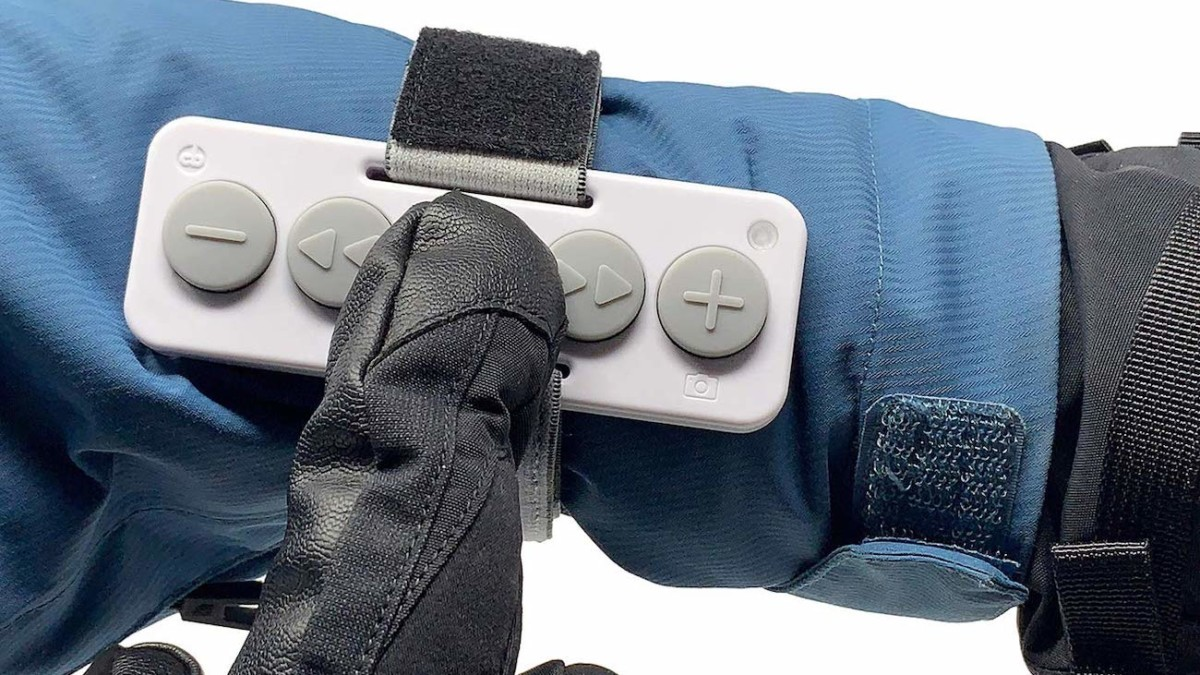 Chubby Buttons Wearable Bluetooth Music Remote makes changing the song easy with gloves on