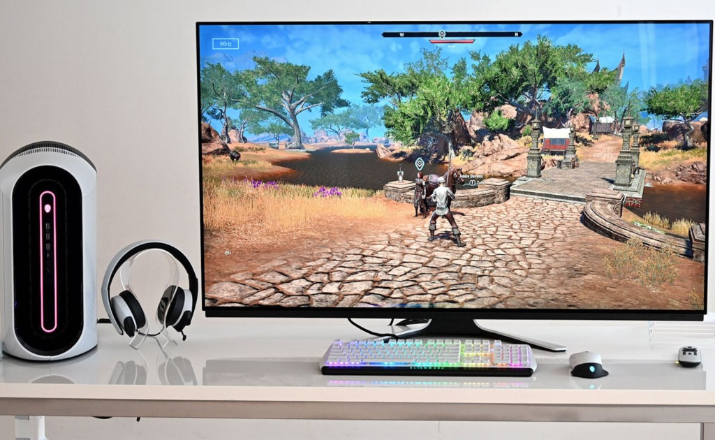Dell+Alienware+55+OLED+Gaming+Monitor+immerses+you+in+the+game+with+half-millisecond+response+time