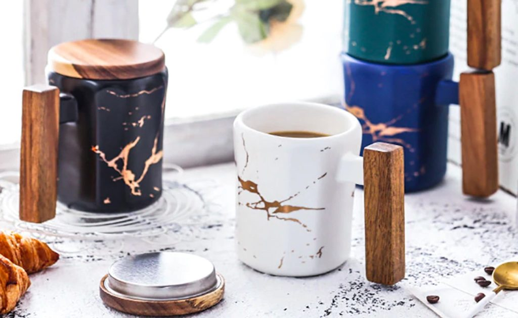 Entertime+Nordic+Style+Gold+Marble+Coffee+Mug+holds+plenty+of+coffee