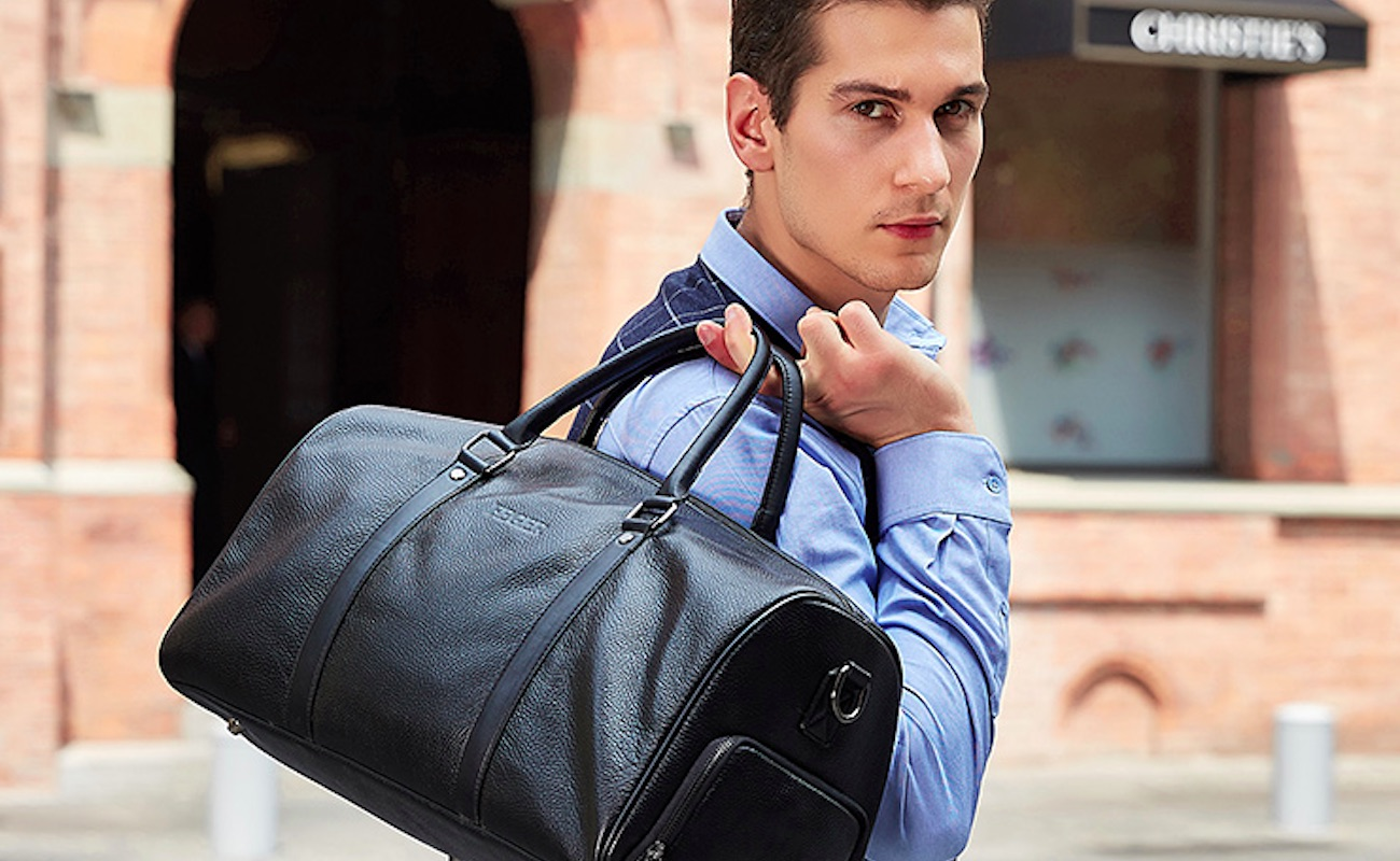 Feger Genuine Leather Travel Duffle Bag is all about style