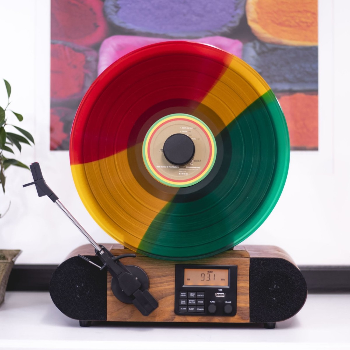 Fuse Vert Vertical Vinyl Audio System displays your records while playing them