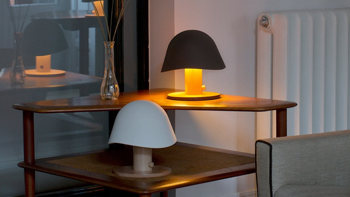 Garay Studio Mush Lamp Cordless Table Light is a glowing mushroom-shaped design