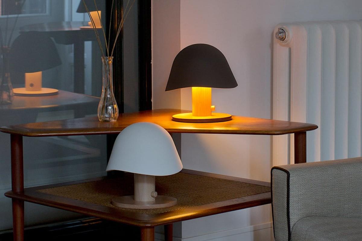 Garay Studio Mush Lamp Cordless Table Light is a glowing mushroom-shaped design
