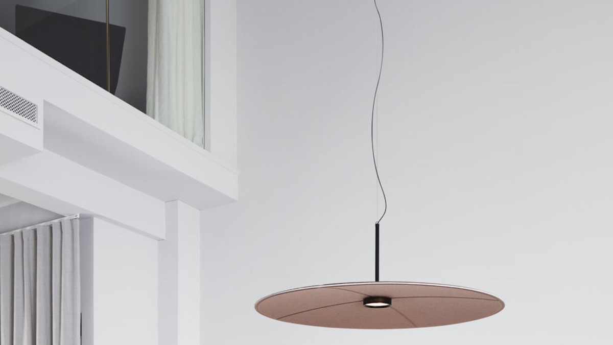 Hallgeir Homstvedt Lily Acoustic Hanging Lamp enhances the sound in any room