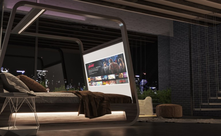 Hi-Interiors HiBed Canopy Smart Bed makes it easier to wake up and see your way