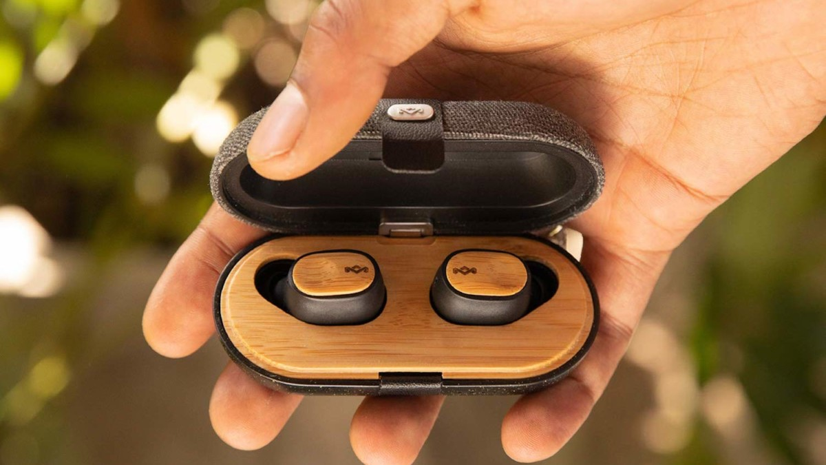House of Marley Liberate Air Sustainable Wireless Earbuds give you up to 32 hours of battery life